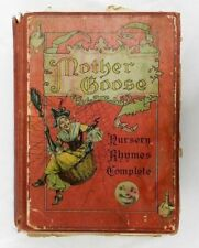 Antique 1800's Mother Goose Nursery Rhymes McLoughlin Book Vintage Childrens