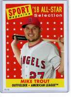 Mike Trout 2019 Topps Archives 5x7 #310 /49 Angels