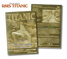 1912-2012 *100th Anniversary* TITANIC Whitestar Ship 23 Karat GOLD Card