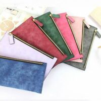 PU Leather Envelope Coin Bags Wallet Card Holder Handbag Long Wallets Purse
