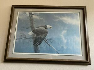 Robert Bateman-The Air, The Forest, The Watch-Signed Framed Print