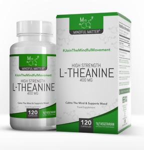 L-Théanine Capsules de 400mg  |  120 Capsules Végétariennes  |  Haute Teneur