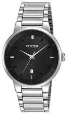 Citizen Men's Corso Quartz Black Dial Silver Tone Bracelet 40mm Watch BI5010-59E