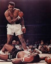 NEW MUHAMMAD ALI VS SONNY LISTON KNOCKOUT BOXING SPORT WALL PHOTO PRINT POSTER