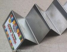 New listing Stainless Taco Shell Server Holder Make-Up Rack 2 to 3 Soft Or Hard Tacos Shells