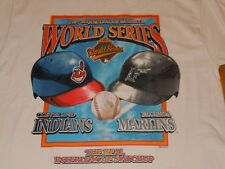 CLEVELAND INDIANS WORLD SERIES 1997 SHIRT MENS LARGE VINTAGE STARTER WHITE WAHOO