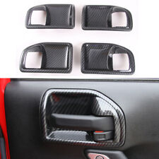 Car Inner Door Handle Bowls Cover Decor Frame Trim fits 2011-17 Jeep Wrangler JK