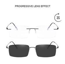 Ultralight Rimless Transition smart zoom Progressive Anti Blue Reading glasses