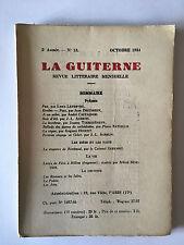 LA GUITERNE N°13 OCTOBRE 1934 POESIE CASTAGNOU AUBRUN ARTS