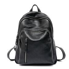 Zaino PU Pelle Nero Zainetto da Spalla Studente Viaggio Borsa Donna Backpack