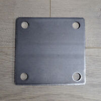 STEEL BASE PLATES WITH 4 HOLES | 3x3 4x4 5x5 6x6 | Multi QTY Discounts