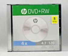 5 Pieces HP 4X DVD+RW ReWritable Blank Disc Media