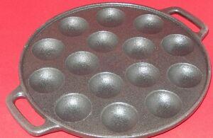 Poffertjes Pfanne aus Gußeisen Mini Pfannkuchen für 15 Poffertjes 23,5 cm