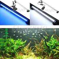 Aquarium Fish Tank Blue/White 30/42/57 LED Bar Submersible Waterproof Light Lamp