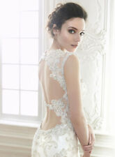 "MAGGIE SOTTERO ""JADE"" WEDDING GOWN BRIDAL BRIDE IVORY SWAROVSKI CRYSTALS 10 NWOT"