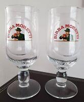 4 X Birra Moretti half pint glas new design CE Bar Gift Man Cave