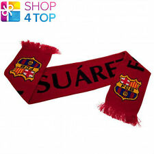 FC BARCELONA SUAREZ FAN RED SCARF SCARVES OFFICIAL FOOTBALL SOCCER CLUB TEAM NEW