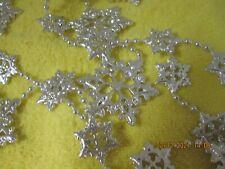 100 feet Christmas Silver Garland -Star Design-New -2 sizes of stars