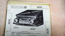 Motorola Car Radio Model 400 Sams Photofacts Folder