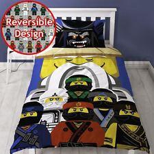 LEGO NINJAGO MOVIE GURU SINGLE DUVET COVER SET KIDS - 2 IN 1 DESIGN