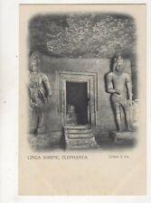 Linga Shrine Elephanta India Vintage U/B Postcard 373b