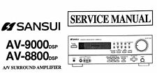 SANSUI AV-8800DSP AV-9000DSP AV Surround Amp servizio manuale stampato vincolato Eng