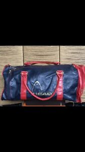 VINTAGE 80's HEAD LARGE HOLDALL GYM  BAG Monte Carlo Blue Red Please Read