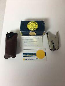 VTG Justrite Regulation Pocket Seal Embosser Stamp Tool (APLC)