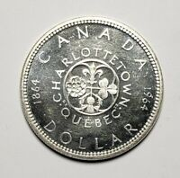 Canada 1964 Silver $1.00 One Dollar Coin