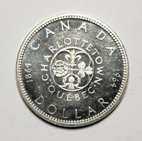 Canada 1964 Silver $1.00 One Dollar Coin
