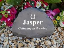 Horse Memorial - Garden Rock (Stone Effect) Personalised - Weatherproof - Large
