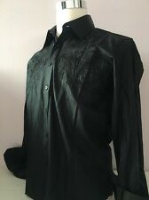 NWT $145 Mondo Men's Shirt Size M , Front And Back Embroidery