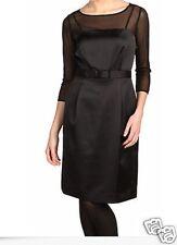 Tahari Women's Size 6P Sheer Stretch Satin Little Black Dress Msrp $139.99
