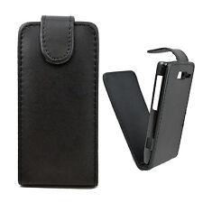 Black Flip Leather Phone Pouch Case Skin Cover For Motorola Droid Razr M XT907