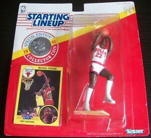 1991 Michael Jordan Chicago Bulls Shooting Starting Lineup SLU NBA Basketball