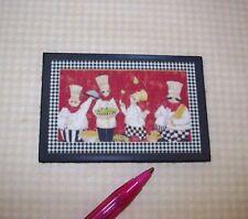 "Miniature ""Chefs"" Kitchen Floor Mat DOLLHOUSE 1/12"