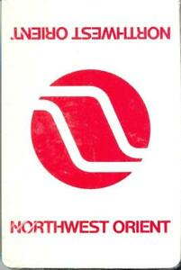 1980s Northwest Orient Airlines - deck playing cards