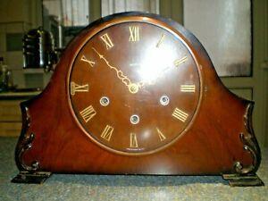 Vintage Smiths Westminster Chime Mantel Clock c/w Original Key Good timekeeper