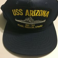 VTG USS ARIZONA BB-39 PEARL HARBOR Navy Hat Snap Back