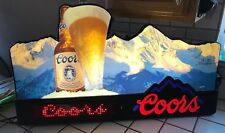 Vintage Coors Beer Lighted Sign Digital Bar Rocky Mountains 1991 Man Cave Pub