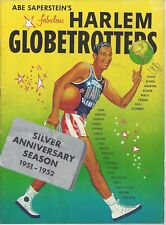 Harlem Globetrotters 1951-52 Yearbook Silver Anniversary Excellent Condition