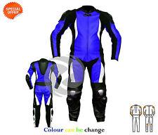 Giacche blu da donna in pelle per motociclista
