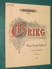"""Partitions Violon et Violon acc. piano """"Peer-Gynt-suite I"""" Op. 46 GRIEG"""