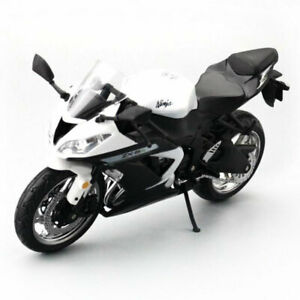 1:12 Kawasaki Ninja ZX-6R Motorcycle Model Plastic Motorbike Models Gift White