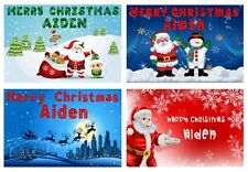 Personalised Christmas Money Gift Voucher Wallet Christmas White Card Money