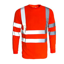 Hi Viz Vis t shirt Top High Visibility Safety Security Work Reflect T-Shirt