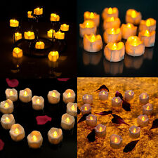 Portable Yellow Flicker Electric Candles Flameless Tea Light Wedding Decoration