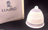 Vintage Lladro Daisa 1993 Bell Porcelain Christmas Ornament Hand Made in Spain