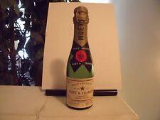 (4) Vintage Moet & Chandon Brut Imperial Champagne Mini Empty Display Bottles