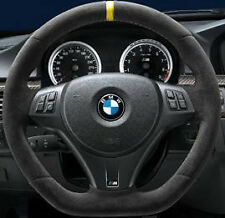 BMW OEM E90 E91 E92 E93 E82 M Performance Steering Wheel Alcantara Yellow Stripe